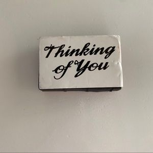 Thinking of you foam rubber stamp